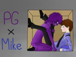Purple guy x mike in a box by realistdepressionman