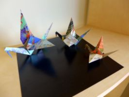 Origami - Cranes by Flutingspirit