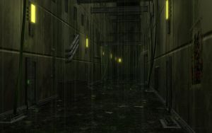 Dark underhive alley, wh40k by Cymoth