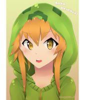 Tsundere Creeper Girl by Averyrukito
