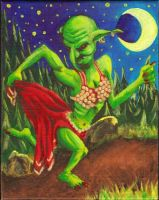 Grenzzlap Durdsnapp - Goblin Bellydancer by burning-thirteen