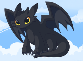 Toothless Dragon by Domestic-hedgehog