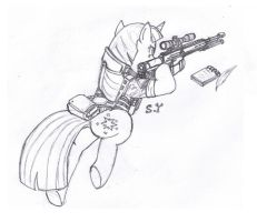 My Little Pony Commando Is Magic-Twilight Sparkle by Miniyippo
