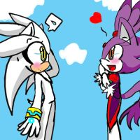 silver and blaze in the bark by EvilPink95