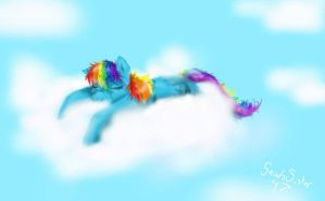 Rainbow Dash Napping by SaintsSister47
