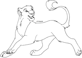 Another lioness lineart by Lil-Cheetah