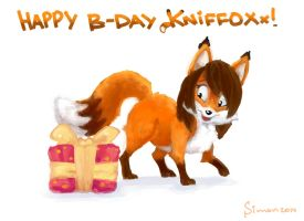Happy B-Day Groxy-cyber-soul!! by SimonTheFox1
