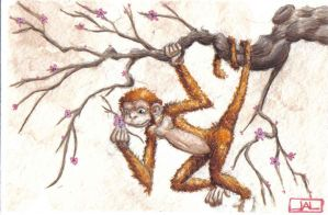 The snake and the monkey No.2 by Leprikhan