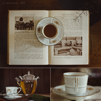 Books and tea by Anina-Bird