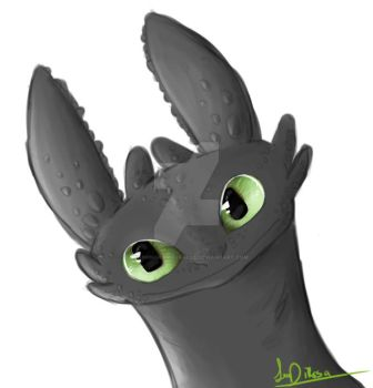 Toothless- SPEEDPAINT by droppingravityfalls