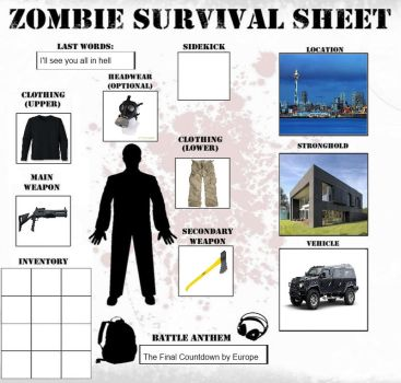 Zombie Survival Sheet by Astor-Reinhardt