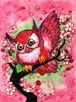 Cherry Owl by JoJo-Seames