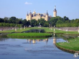 Castle Schwerin by IndianRain