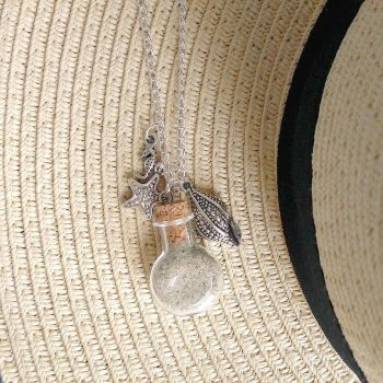 new necklace flask of sand by Kenshart