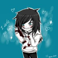 I love you Knife /Jeff chibi xD by RukiaAngle