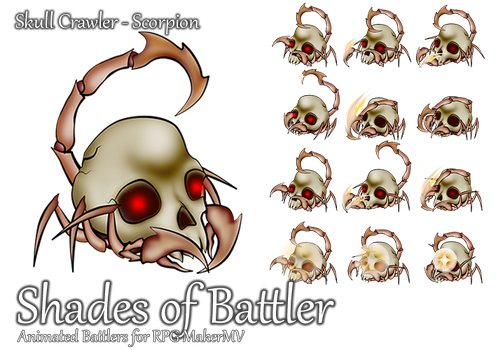 RPG Maker MV Battler - Skull Crawler: Scorpion by ShadowHawkDragon