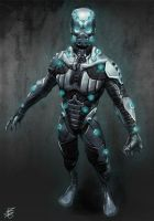 Sci-Fi Footsoldier concept by mindschnapps