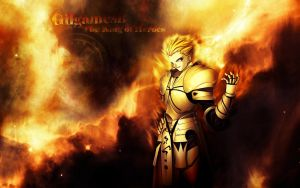 Gilgamesh King of Heroes Wall by YaminoKagutsuchi