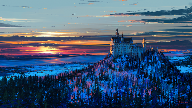 Castle in the Sky by Aenami