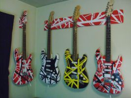 eddie van halen guitars! by lryvan