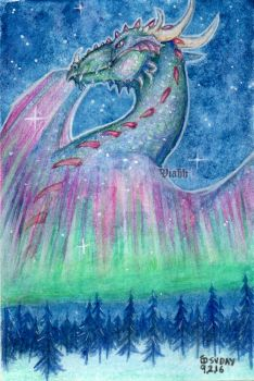 Northern Sky Dragon by xHideFromTheSunx