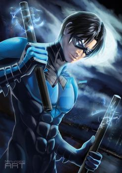 Nightwing - Dick Grayson by Min-rotic
