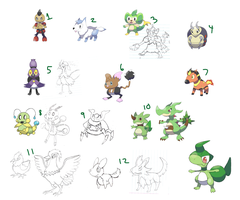 Fakemon Auction!  OVER by SupahSanti