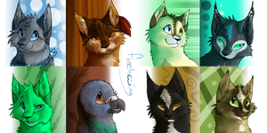 Character headshots by Finchwing