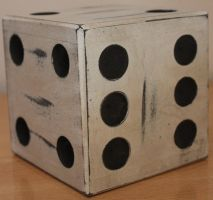 White Giant Dice Stock 003 by TundraStock