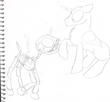 Stallion And Skeletal Base Sketch by Yoshi123pegasister