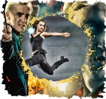 Draco and Hermione Epic Battle by LaLaMora