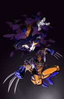 Wolverine and Nightcrawler by tigerfreako1