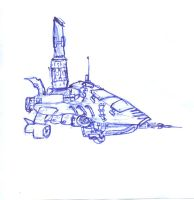 Spaceship draft scetch by maxspider