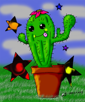 Happy Cactus by GlowStickMoshPit