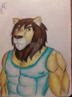 strong lion by renzo-petrucci