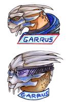 Garrus stickers by Deezmo