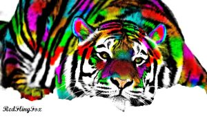 Rainbow Tiger by GolenFlyingFox