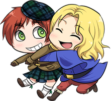 chibi scotland + france by NuhFanik