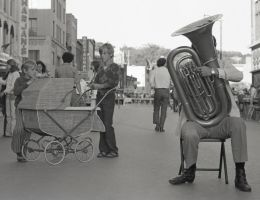 Brothers And Tuba Player by lweigard