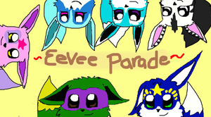 Eevee Parade by NinjaTurtleGirl