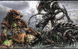 Aliens vs. Predator by shawnr22