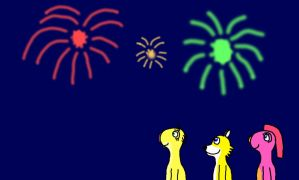 Watching the Fireworks by LouieYellowFox