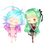 COM - Miwa and Nadine by Wingsie