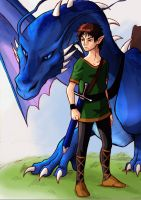 Eragon and Saphira. by J-e-J-e