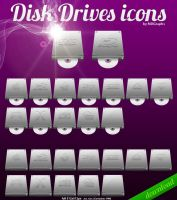 Disk Drives icons by MDGraphs