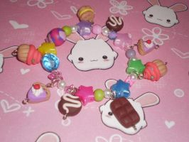 Fimo Kawaii Charm Bracelet by kawaii-fimo-girl