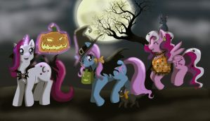 Halloween Ponies by Ty-Chou