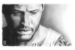 Tom Hardy portrait by dmkozicka