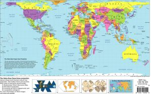 A Peter's Projection Map of the World by FringerFrankie