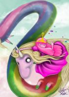 Lady Rainicorn and princess bubblegum! by AldairCruz